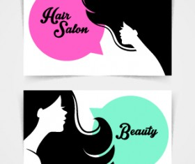 Exquisite beauty salon business cards vector material 05