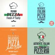 Link toExquisite pizza logos design vector material 03