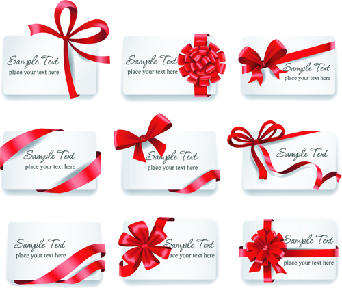 Exquisite ribbon bow gift cards vector set 01 vector card exquisite ribbon bow gift cards vector set 01 yadclub Gallery