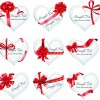 Exquisite ribbon bow gift cards vector set 03