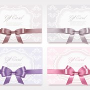 Link toExquisite ribbon bow gift cards vector set 25