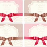 Link toExquisite ribbon bow gift cards vector set 27