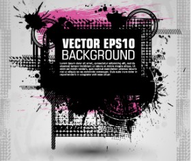 Fashion splash effect with grunge background vector 03