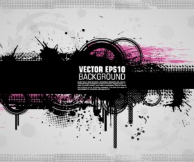Fashion splash effect with grunge background vector 04