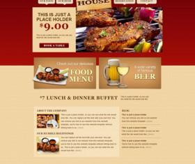 Fine food and buffet website template psd