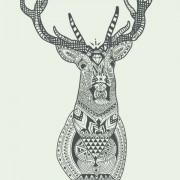 Link toFloral deer head vector graphics