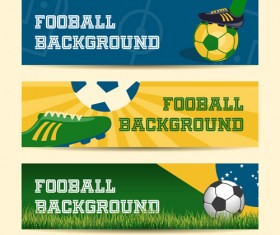 Football background banner vector material