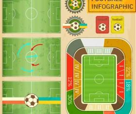 Football field infographics vector graphics