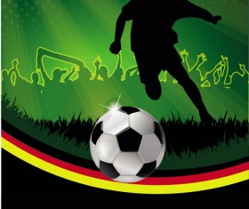 Football night posters background vector