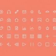 Free 50 kind line web icons