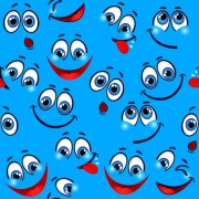 Link toFunny cartoon face pattern vector graphic