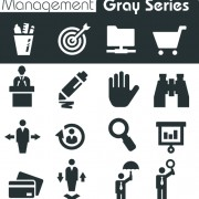Gray series social icons vector set 02