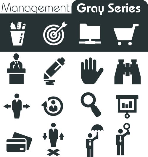 Gray series social icons vector set 02