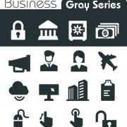 Gray series social icons vector set 04