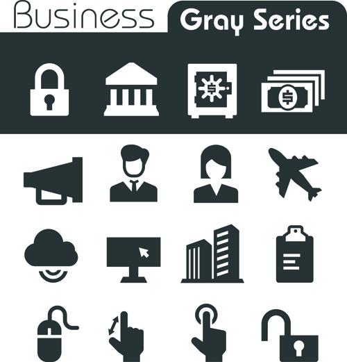 Gray series social icons vector set 04