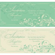 Link toGray vintage style floral invitations cards vector 01