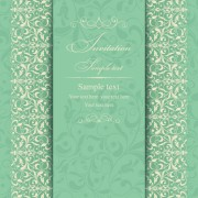 Link toGray vintage style floral invitations cards vector 03