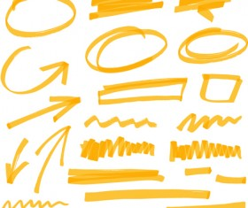 Hand drawing different signs vectors graphics 03