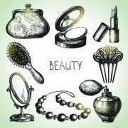 Link toHand drawn beauty elements icons vector graphics