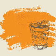 Link toHand drawn cocktail with grunge background 01