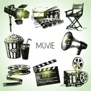 Link toHand drawn movie elements vector icons