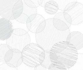 Hand drawn round vector background