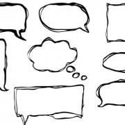 Link toHand drawn speech bubbles creative vector