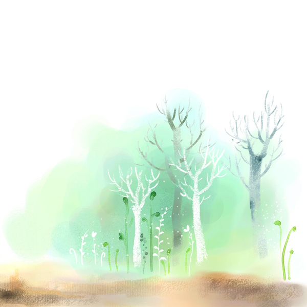 Hand drawn watercolor tree psd background over millions for Watercolor painting templates free