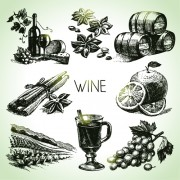 Link toHand drawn wine design vector icons 01