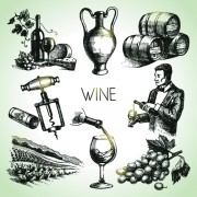 Link toHand drawn wine design vector icons 02