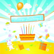 Link toHappy birthday to baby cute background vector