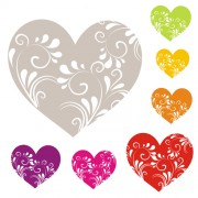 Link toHeart with floral ornament vector