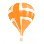 Hot air balloon layered psd graphic