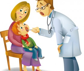 Kid and dentists design vector
