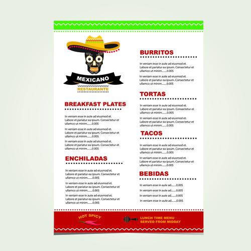... menu creative vector 01 download name mexican restaurant menu creative