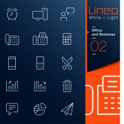 Link toOffice and business outline icons vector 01