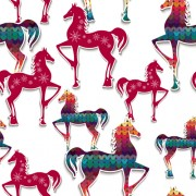 Link toPaper floral horse vector seamless pattern