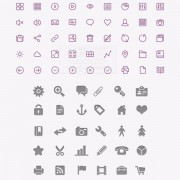 Purple with gray system creative icons