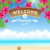 Refreshing summer time vector background 01
