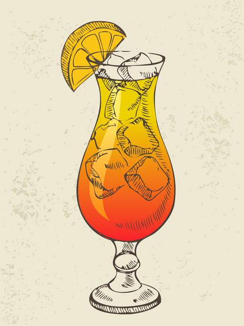 Cocktail Logo Vector Retro Cocktail Design Vector