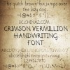 Retro hand writing font