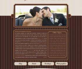 Romantic weddings website psd template