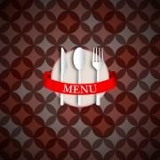Link toRound pattern background with restaurant menu vector 02