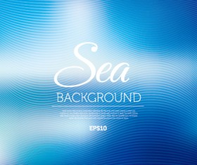 Sea abstract blurred background vector