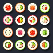 Link toSet of best food icons vectors graphics 02