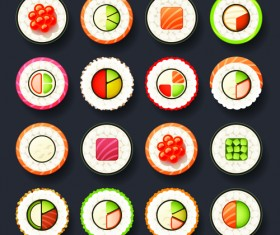 Set of best food icons vectors graphics 02