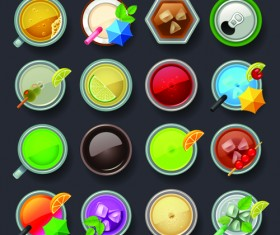 Set of best food icons vectors graphics 03