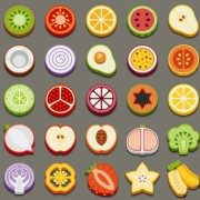 Link toSet of best food icons vectors graphics 04
