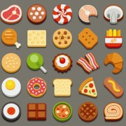 Link toSet of best food icons vectors graphics 05