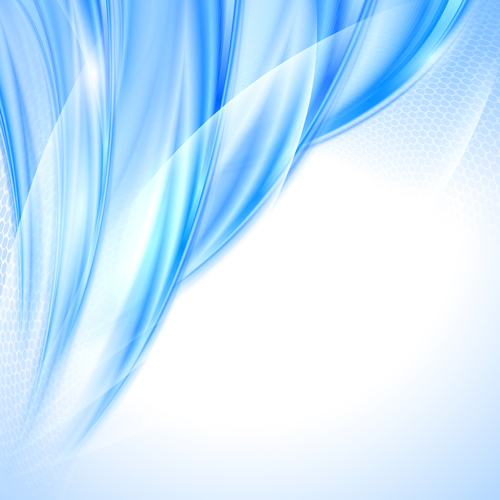Shiny blue wave abstract background vector 01 - Vector ...